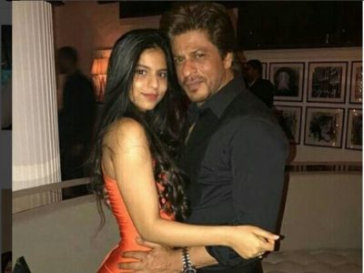 सुहाना अपने पिता शाहरुख खान के साथ